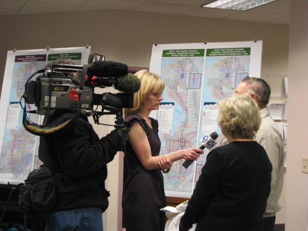 Camera Crew at West Davis Media Event