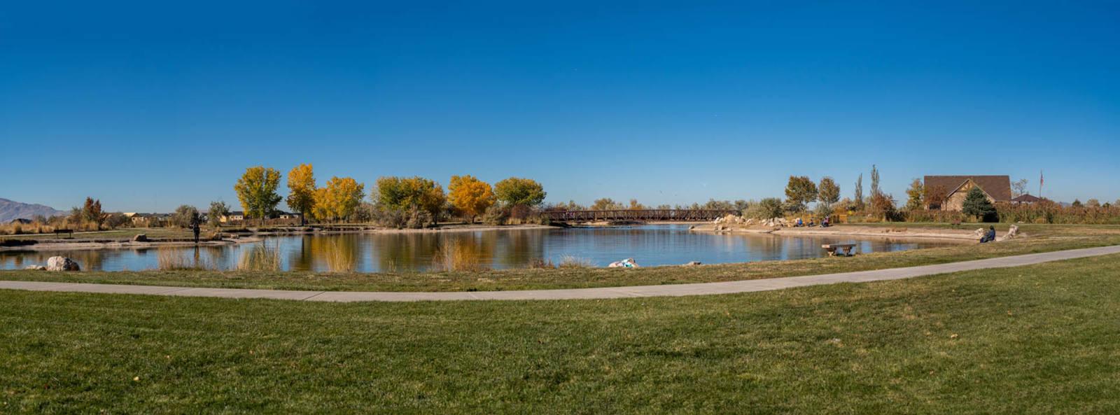 West Davis panoramic View of Wetlands