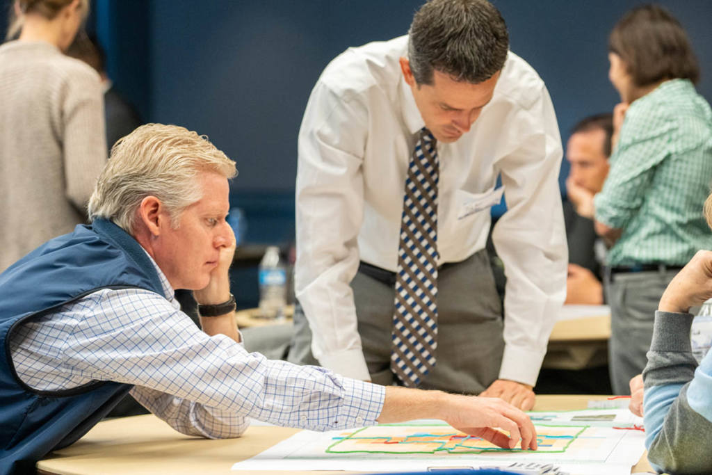 West Davis Resident Working Group Looking at Map