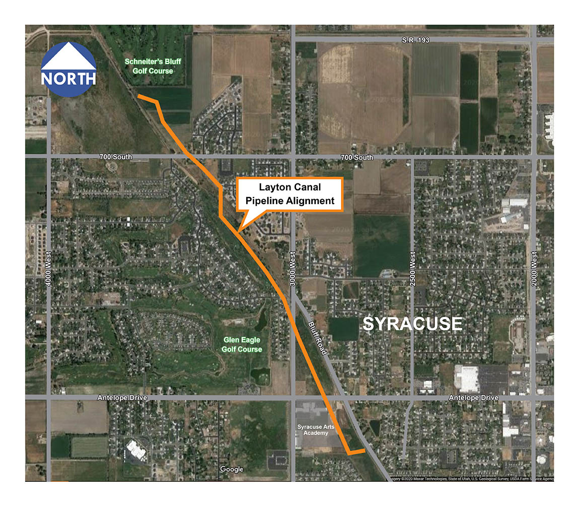 Layton Canal Pipeline Alignment Map